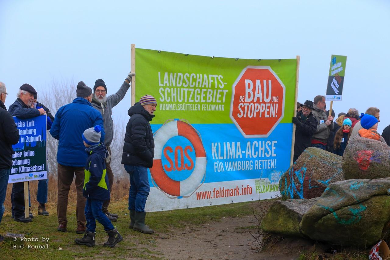 HamburgerInnen demonstrieren für Klimaschutz-Zone
