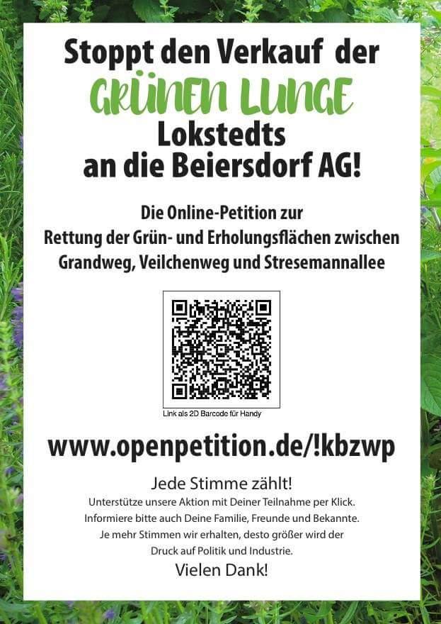 Petition zum Erhalt der Kleingärten in Hamburg-Lokstedt