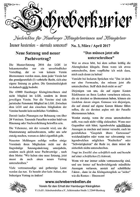 Schreberkurier Ausgabe 3